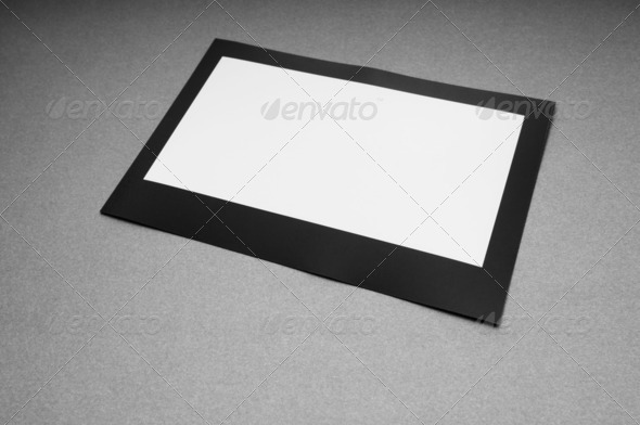 Designer concept - blank photo frames for your photos - Stock Photo - Images
