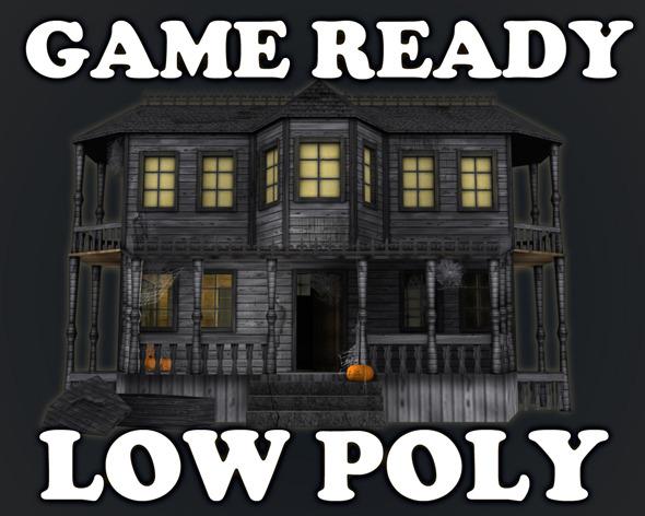 3DOcean Haunted Halloween House 3297689