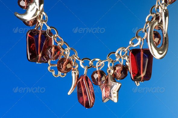Pendant against colour gradient background - Stock Photo - Images