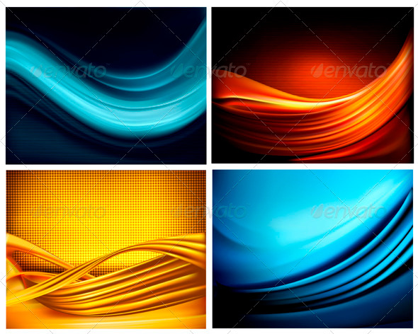 GraphicRiver Set of Business Elegant Coloful Abstract Background 3298067
