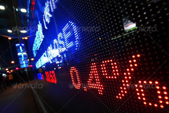 Colored ticker board - Stock Photo - Images