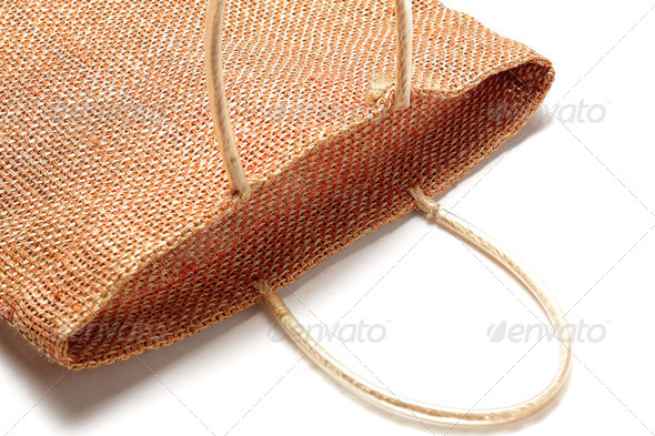 Wicker bamboo handbag - Stock Photo - Images