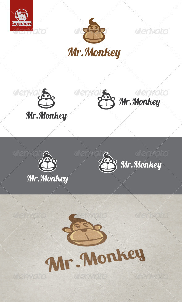 GraphicRiver Mr Monkey Logo Template 3298233