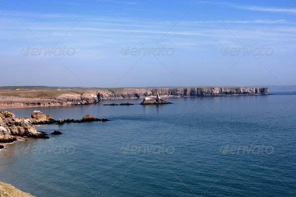 Pembrokeshire coastal path - Stock Photo - Images