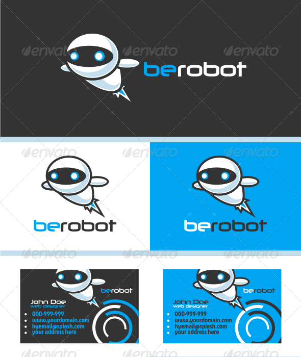 GraphicRiver Modern Robot V.1 Logo Template 3300871