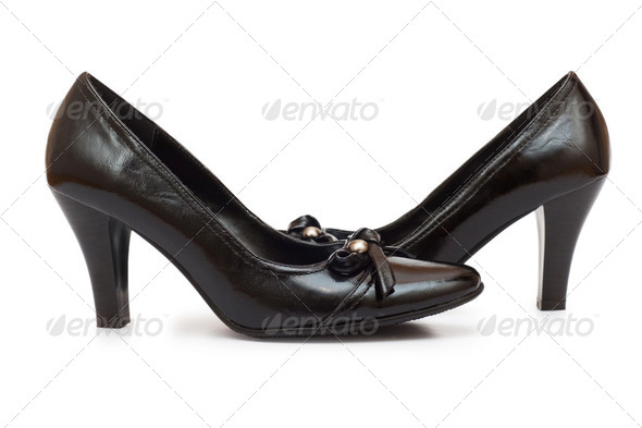 Woman shoes isolated on the white background - Stock Photo - Images