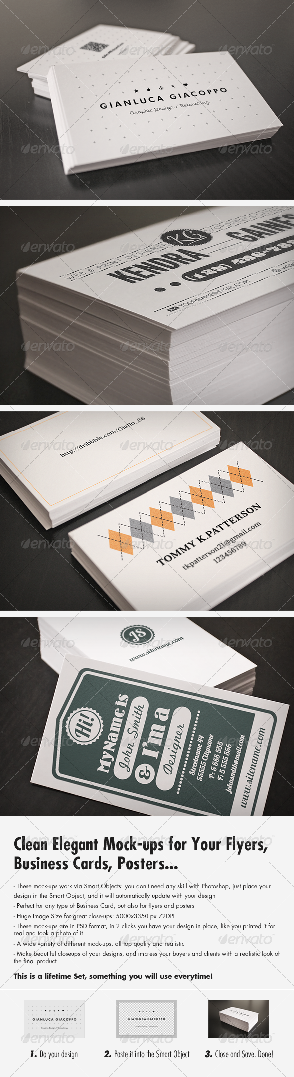 GraphicRiver Flyer and Business Card Clean Realistic Mockups 3301941