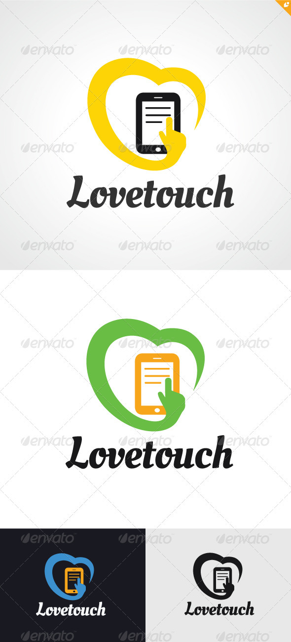 GraphicRiver Love Touch Logo 3302128