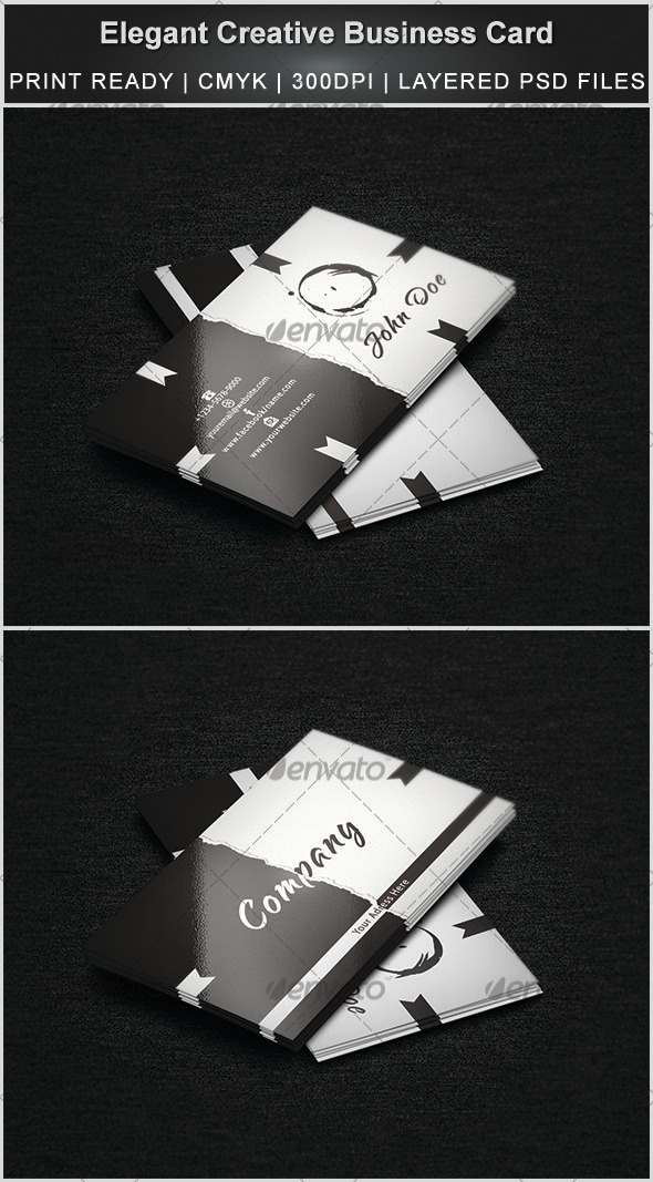 GraphicRiver Elegant & Creative Business Card 3302577