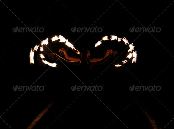 Photo of fire show - Stock Photo - Images