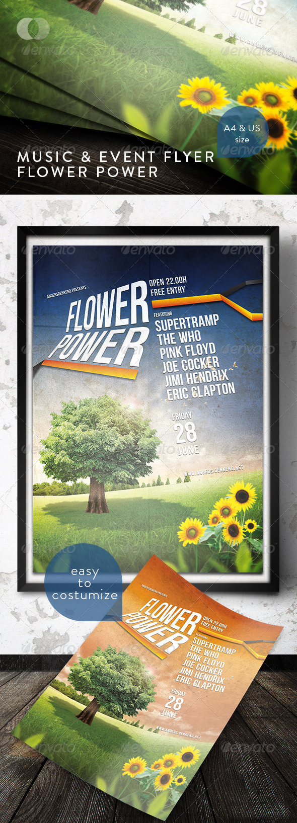 Music & Event Flyer - Flower Power - Concerts Events