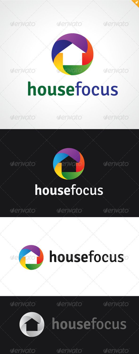 House Focus Logo  - Buildings Logo Templates