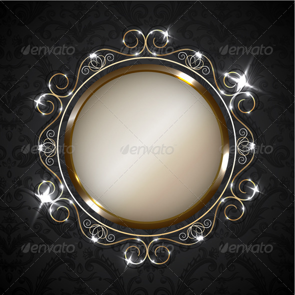 GraphicRiver Vintage Golden Frame 3303067