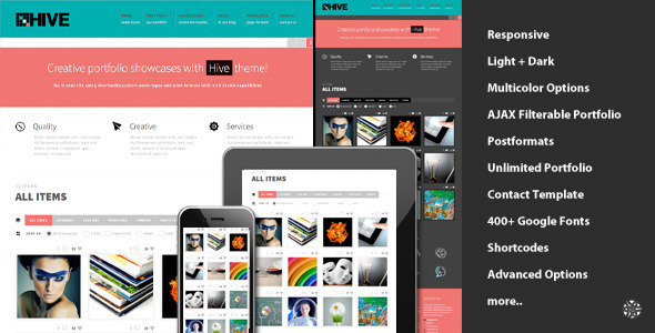 Hive Responsive Portfolio Theme - Portfolio Creative