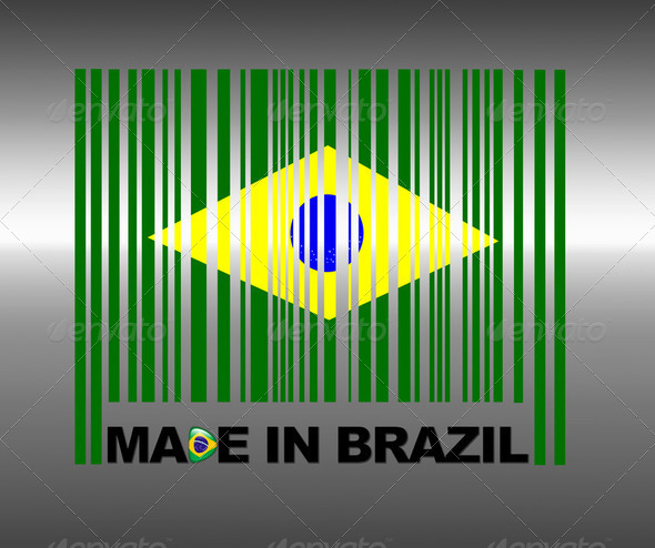 Made in Brazil. - Stock Photo - Images