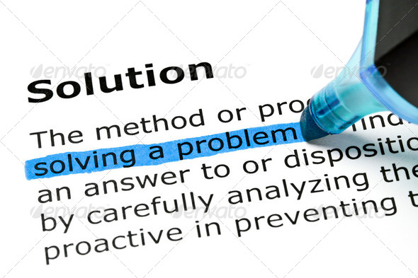 Solution with blue marker - Stock Photo - Images