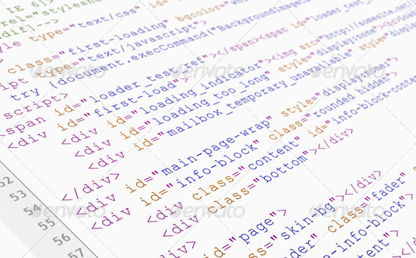 Website HTML Code - Stock Photo - Images