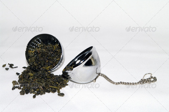 Green Tea - Tea Ball 5708 - Stock Photo - Images