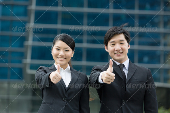 Happy Asian business team - Stock Photo - Images