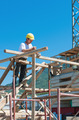 Construction worker on scaffold - PhotoDune Item for Sale