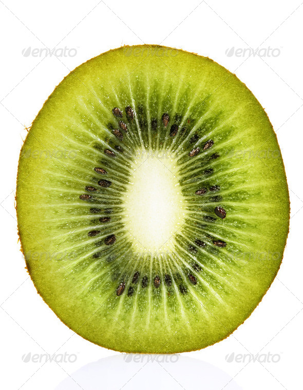 Kiwi Fruit Cross Section - Stock Photo - Images