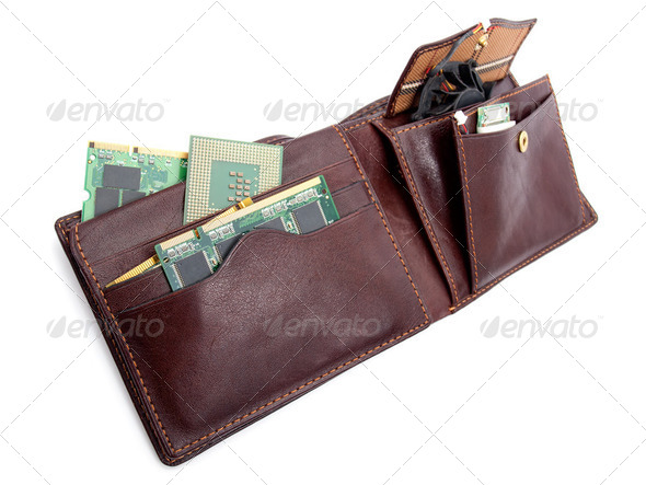 Electronic wallet - Stock Photo - Images