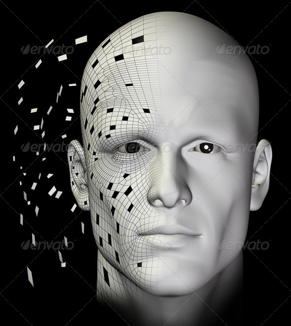 receiving data 3d illustration - Stock Photo - Images