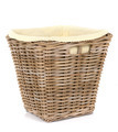 Traditional wicker basket on white background  - PhotoDune Item for Sale