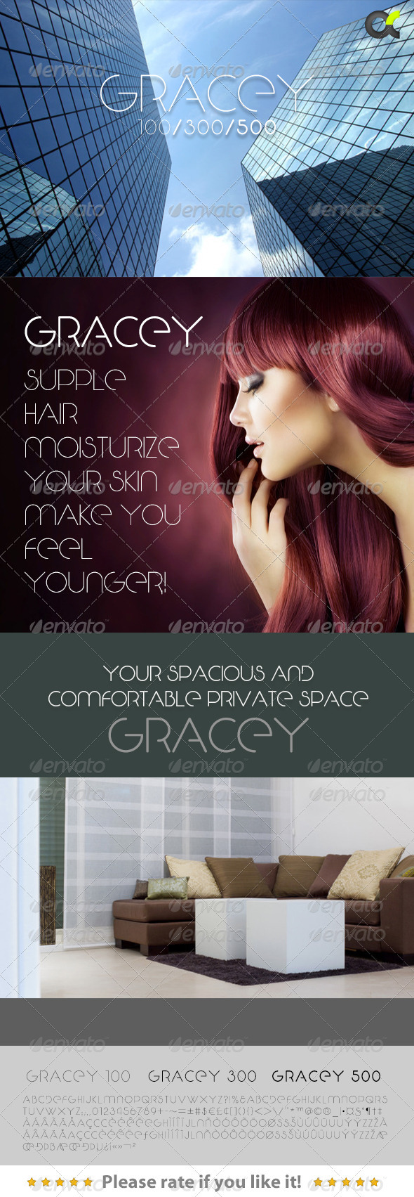 GraphicRiver Gracey Font 3043452