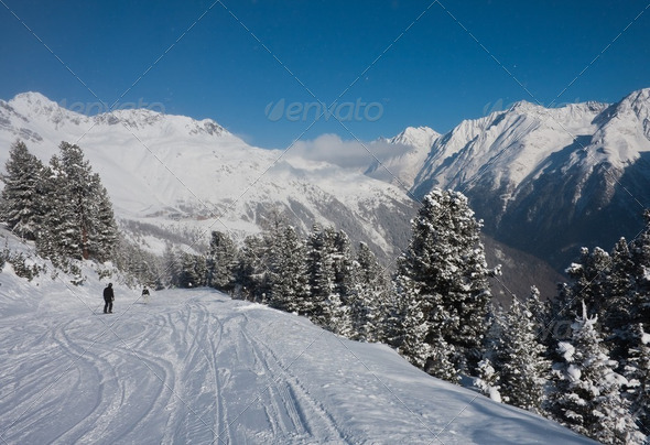 Ski resort  Solden. Austria - Stock Photo - Images