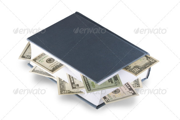 Book with dollars - Stock Photo - Images