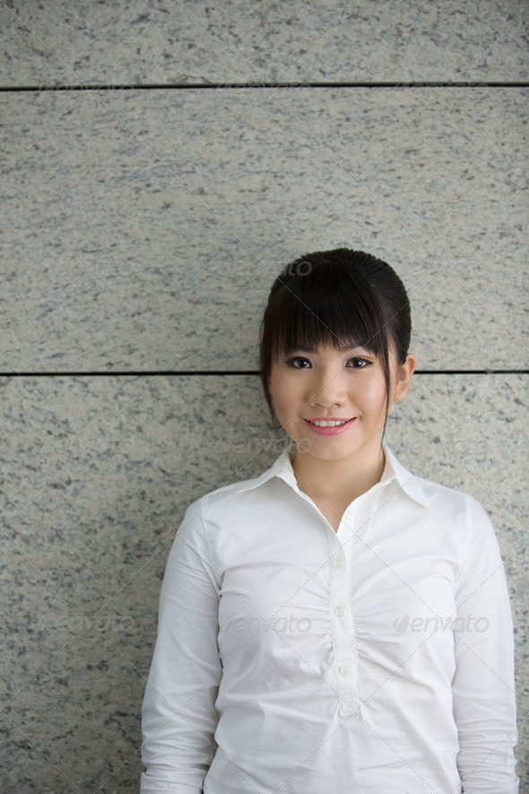 Portrait of an Asian Business woman. - Stock Photo - Images