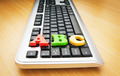 Early education concept with keyboard and letters - PhotoDune Item for Sale