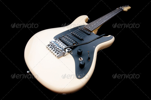 Guitar against the background - Stock Photo - Images