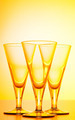 Wine glasses against gradient background - PhotoDune Item for Sale