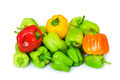 Bell peppers isolated on the white background - PhotoDune Item for Sale
