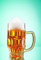 Beer glasses against the colorful gradient background - PhotoDune Item for Sale