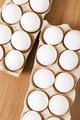 Many white eggs on the wooden table - PhotoDune Item for Sale