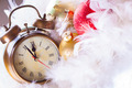 Clock and christmas balls - holiday background - PhotoDune Item for Sale