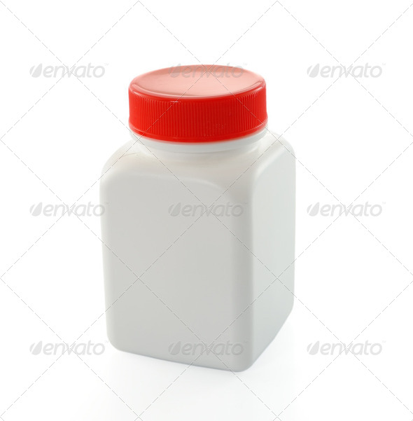white bottles - Stock Photo - Images