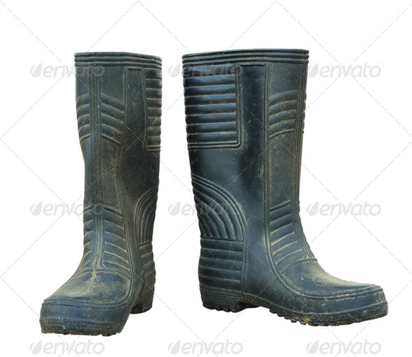 old boots  - Stock Photo - Images
