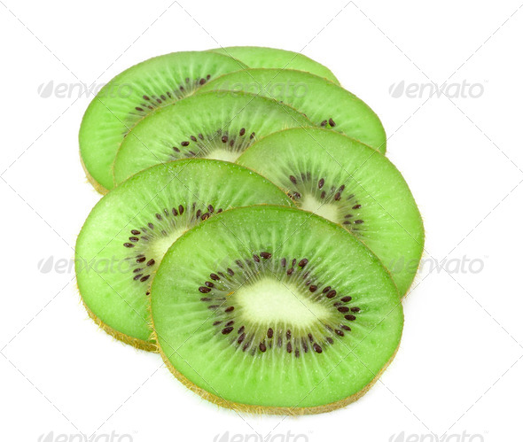 Beautiful slice kiwi  - Stock Photo - Images