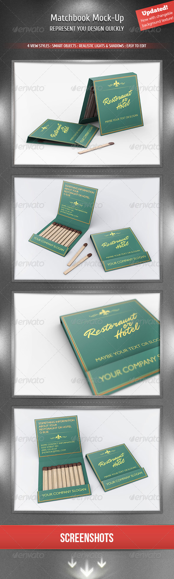 Matchbook Mock-Up - Miscellaneous Product Mock-Ups