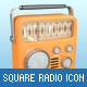Square Radio Icons - GraphicRiver Item for Sale