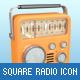 Square Radio Icons - GraphicRiver Item for Sale
