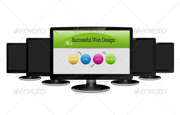 Successful Web Design Concept - Stock Photo - Images