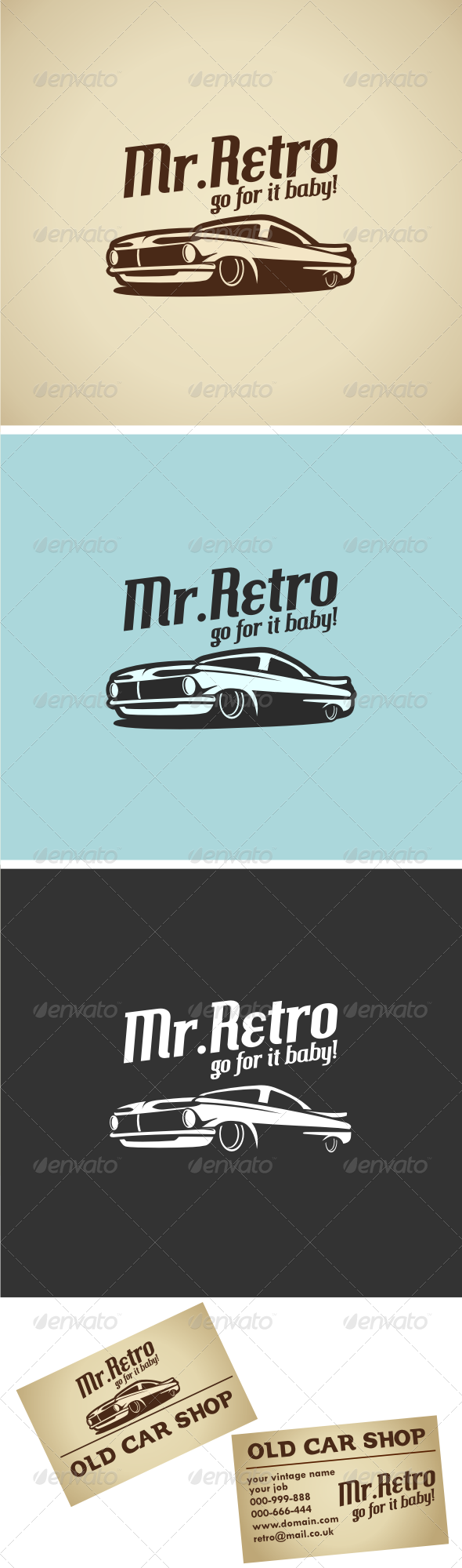 Retro Car V.1 Logo Template - Objects Logo Templates