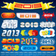 2013 New Year Inscriptions Designs - GraphicRiver Item for Sale