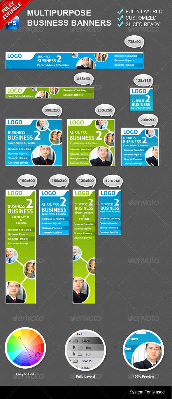 GraphicRiver Multipurpose Business Banners 3309214