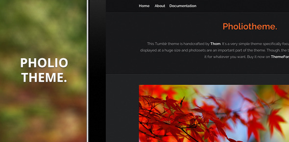 Pholiotheme — A Premium Theme for Tumblr. - Blog Tumblr